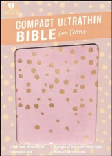 HCSB Compact UltraThin Bible for Teens, Rose Gold LeatherTouch