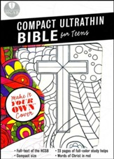 HCSB Compact UltraThin Bible for  Teens, Make-It-Your-Own LeatherTouch