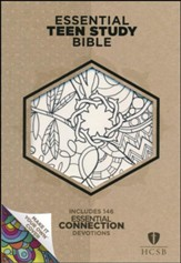 HCSB Personal Size Essential Teen Study Bible, Make-It-Your-Own LeatherTouch