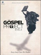 HCSB Gospel Project Bible, Black Cross Design LeatherTouch