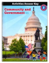 BJU Press Heritage Studies Grade 2 Activities Answer Key:  Community and Government (4th Edition)