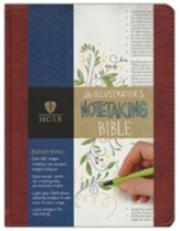 HCSB Illustrator's Notetaking  Bible--soft  leather-look, British tan