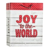 Joy To the World, Rustic, Value Gift Bag, Large, Romans 15:13 KJV