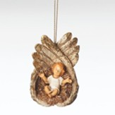 Baby Jesus In Angels Wings, Ornament