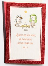 Peanuts, Glory to God in the Highest, Christmas Cards, Box of 18