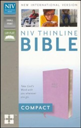 NIV Thinline Bible, Compact, Imitation Leather; Pink