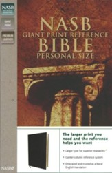 NASB Giant Print Reference Bible Personal Size, Genuine Leather, Custom - Imperfectly Imprinted Bibles