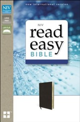 NIV Read Easy Bible Black, Geniune Leather