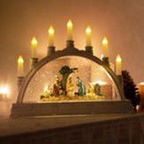 LED, Swirl, Nativity, Arch With Candles