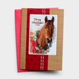 Merry Christmas, Horse, Christmas Cards, Box of 18