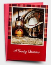 A Country Christmas, Lantern, Christmas Cards, Box of 18
