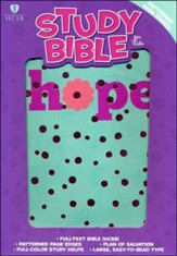 HCSB Study Bible for Kids, Hope LeatherTouch