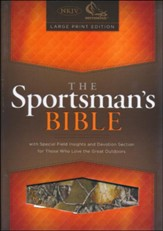 NKJV Sportsman's Large-Print Personal-Size Bible--soft leather-look, camouflage