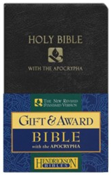 NRSV Gift & Award Bible with  Apocrypha, Imitation leather, Black