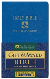NRSV Gift & Award Bible with  Apocrypha, Imitation leather, Blue