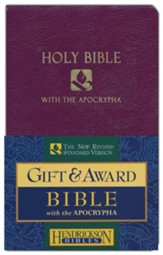 NRSV Gift & Award Bible with Apocrypha, Imitation leather, Royal purple