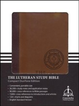ESV Lutheran Study Bible - Compact DuoTone, Brown - Slightly Imperfect