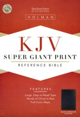 KJV Super Giant Print Reference Bible, Imitation leather, black - Imperfectly Imprinted Bibles