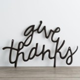 Give Thanks Metal Word Art