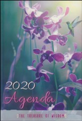 2020 The Treasure of Wisdom Daily Agenda, Orchids and Butterflies