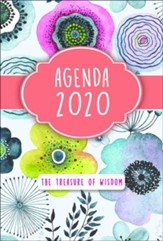 2020 The Treasure of Wisdom Daily Agenda, Watrercolor Flowers