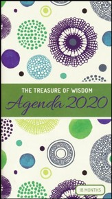 2020 The Treasure of Wisdom Pocket Planner, Green and Blue Geometric Circles