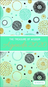 2020 The Treasure of Wisdom Pocket Planner, Teal and Gold Geometric Circles