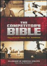 The Competitor's Bible: NLT Devotional Bible for Competitors, Brown Leathertouch - Imperfectly Imprinted Bibles