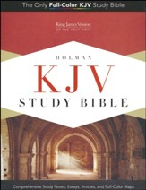 KJV Study Bible, Canary and Slate Grey LeatherTouch