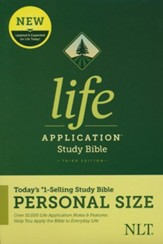 NLT Life Application Personal-Size Study Bible, Third Edition--hardcover