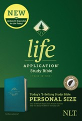 NLT Life Application Personal-Size Study Bible, Third Edition--soft leather-look, teal (indexed)