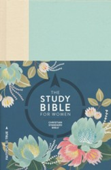 The CSB Study Bible for Women, Light Turquouise and Sand Cloth Over Board