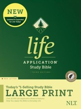 NLT Life Application Large-Print Study Bible, Third Edition--hardcover, red letter (indexed)