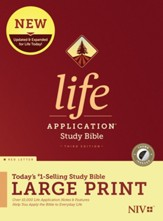 NIV Life Application Large-Print Study Bible, Third Edition--hardcover, red letter (indexed)
