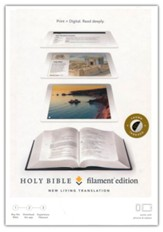 NLT Filament Bible--soft  leather-look, black (indexed)