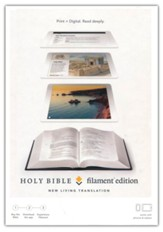 NLT Filament Bible--soft leather-look, blue