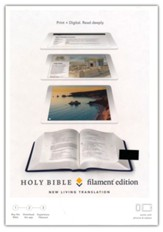 NLT Filament Bible--soft leather-look, blue (indexed)