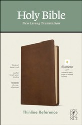 NLT Thinline Reference Bible,  Filament Enabled Edition--soft leather-look, rustic brown