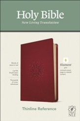 NLT Thinline Reference Bible,  Filament Enabled Edition--soft leather-look, berry