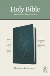 NLT Thinline Reference Bible, Filament Enabled Edition--soft leather-look, teal