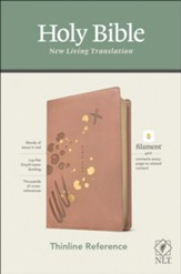 NLT Thinline Reference Bible,  Filament Enabled Edition--soft leather-look, pink