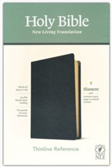 NLT Thinline Reference Bible, Filament Enabled Edition--genuine leather, black