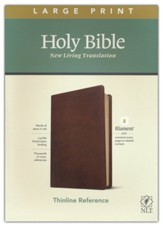 NLT Large-Print Thinline Reference  Bible, Filament Enabled Edition--soft leather-look, rustic brown