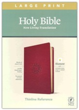 NLT Large-Print Thinline Reference Bible, Filament Enabled Edition--soft leather-look, berry