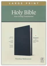 NLT Large-Print Thinline Reference  Bible, Filament Enabled Edition--soft leather-look, black