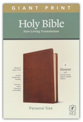NLT Giant-Print Personal-Size Bible,  Filament Enabled Edition--soft leather-look, rustic brown