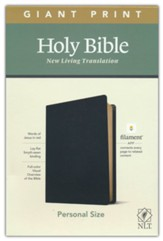NLT Giant-Print Personal-Size Bible, Filament Enabled Edition--genuine leather, black
