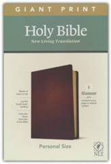 NLT Giant-Print Personal-Size Bible,  Filament Enabled Edition--genuine leather, brown