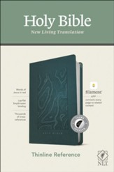 NLT Thinline Reference Bible, Filament Enabled Edition--soft leather-look, teal (indexed)