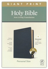 NLT Giant-Print Personal-Size Bible, Filament Enabled Edition--genuine leather, black (indexed)